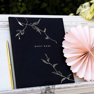Libro de firmas guest book para bodas en color negro