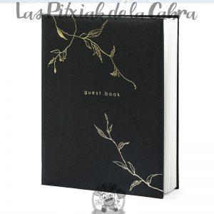 Libro de firmas guest book negro para bodas