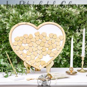 Corazón de firmas para bodas
