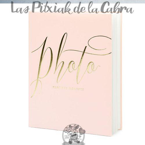 Libro de firmas boda photo dorado