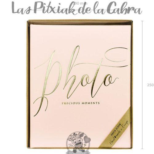 Libro de firmas boda photo rosa