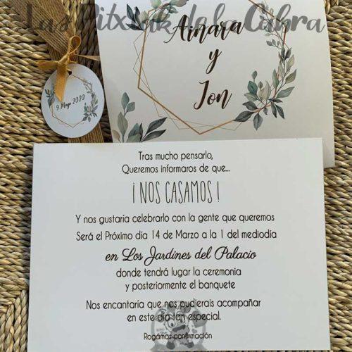 Invitación de bodas vintage