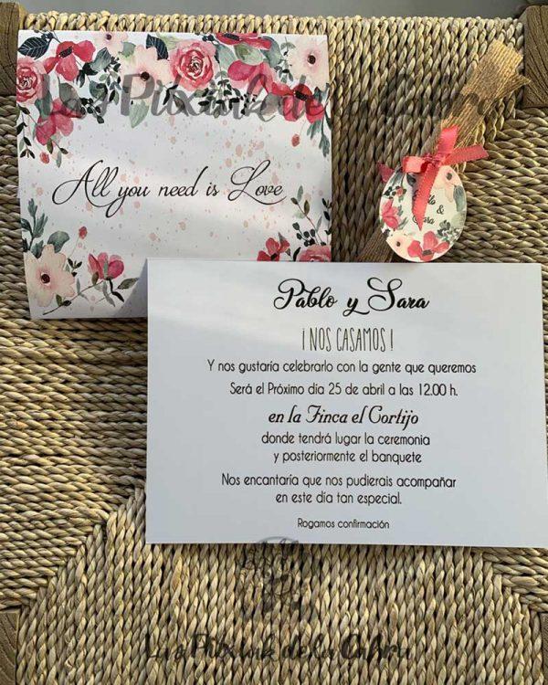 Invitación de boda All you need is Love