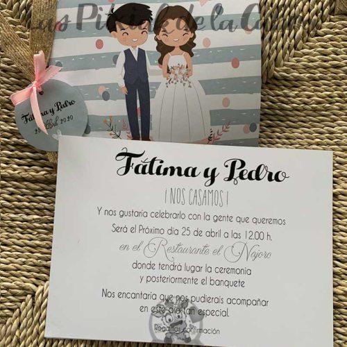 Invitación de boda pareja