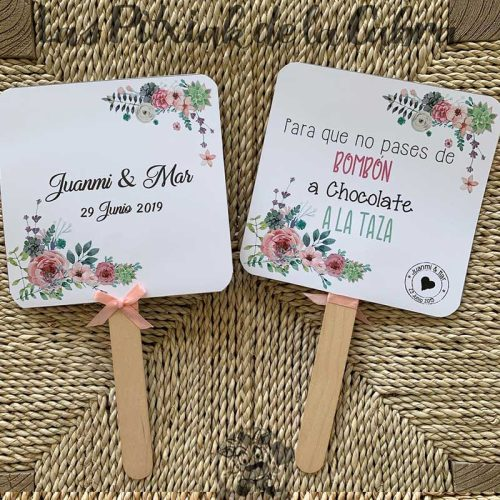 Pai Pai para bodas flores silvestres