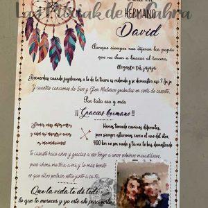 Lamina para detalle de boda hermano atrapasueños