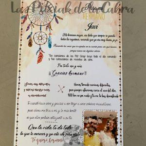 Lamina de regalo de boda para hermano diseño atrapasueños