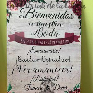 Cartel de boda bienvenidos está permitido emocionarse