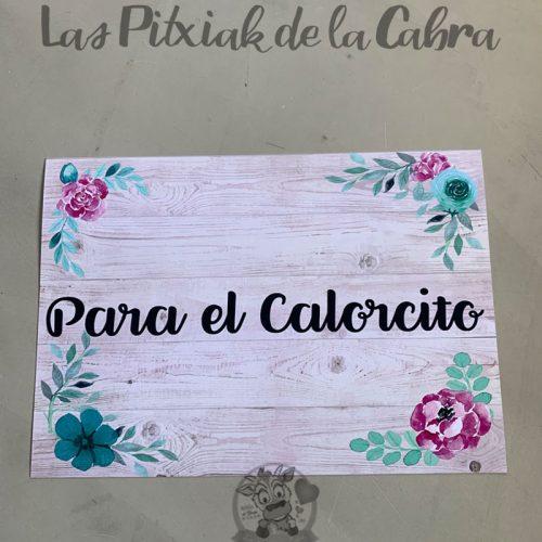Cartel de boda para el calorcito