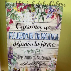 Cartel de boda para firmas