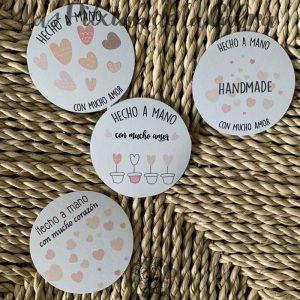 Etiquetas hecho a mano handmade