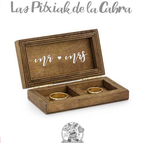 CAJITA PARA ALIANZAS DE MADERA